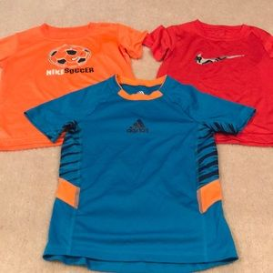Boys Nike & Addidas Dri Fit shirt bundle